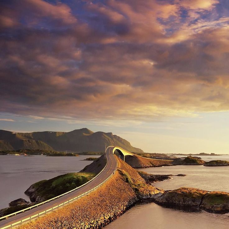 The Atlantic Road scenic drive between #Bud and #Kristiansund is known as the world's most beautiful drive #RoadTrip #Norway #Visitnorwayusa #VisitNorway @fjordnorway  by Jacek Rozycki/Visitnorway.com