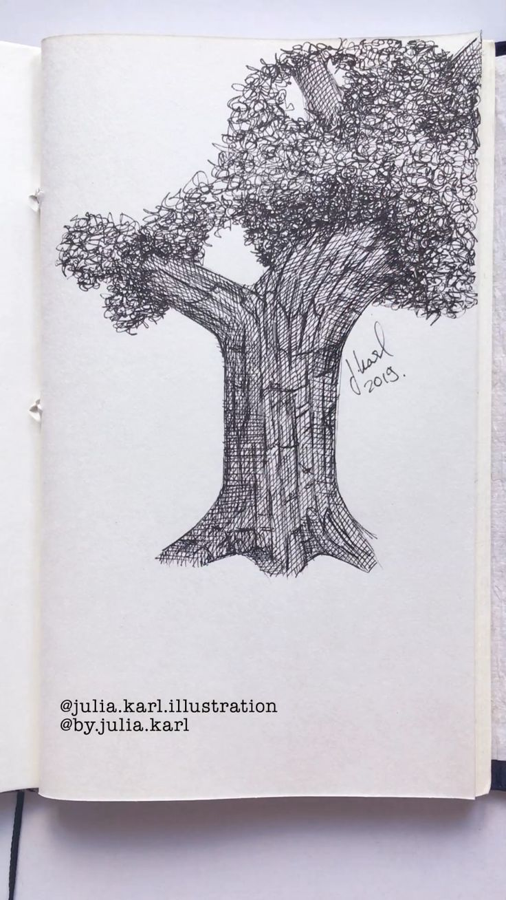 How to draw a tree with ink. Well, at least one wa…
