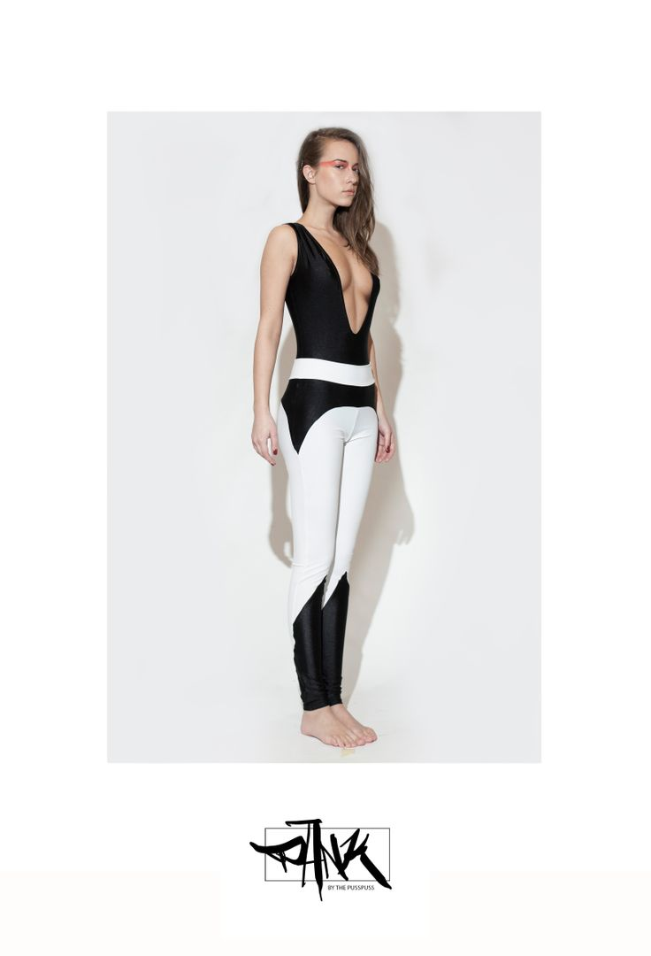 paneled black and white leggings from PankWear on Storenvy