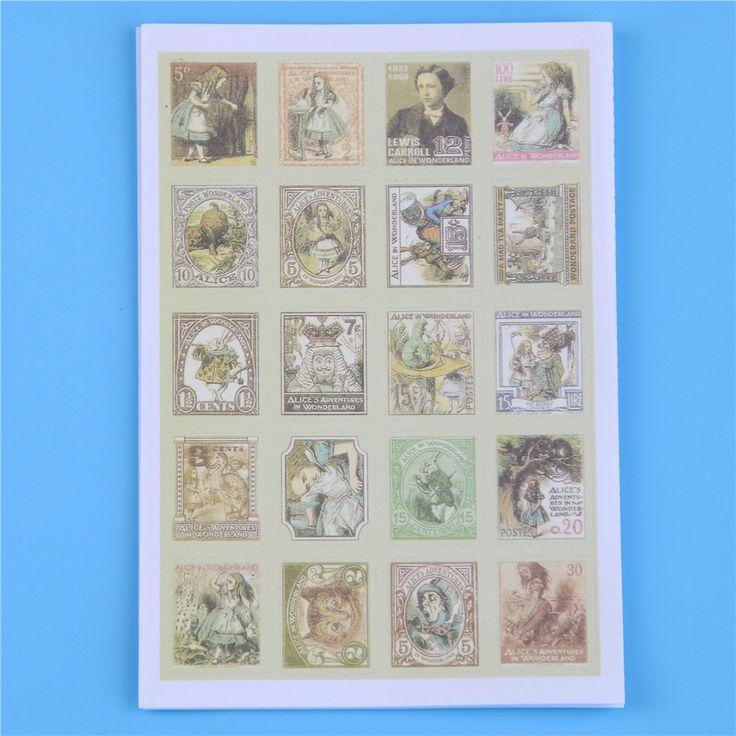 80 Unids/lote (1 Bolsas) Diy Vintage Retro Sello Pegatinas Londres París Príncipe Alice Papel Scrapbooking Pegajosa en Blocs de notas de Office & School Supplies en AliExpress.com | Alibaba Group