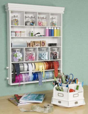 great for craft rooms! I have one of the carousel table top storage. It is awesome! mine is jam packed full of craft supplies! I got mine at 50% off at Micheal's craft store. I paid about $25 for it!