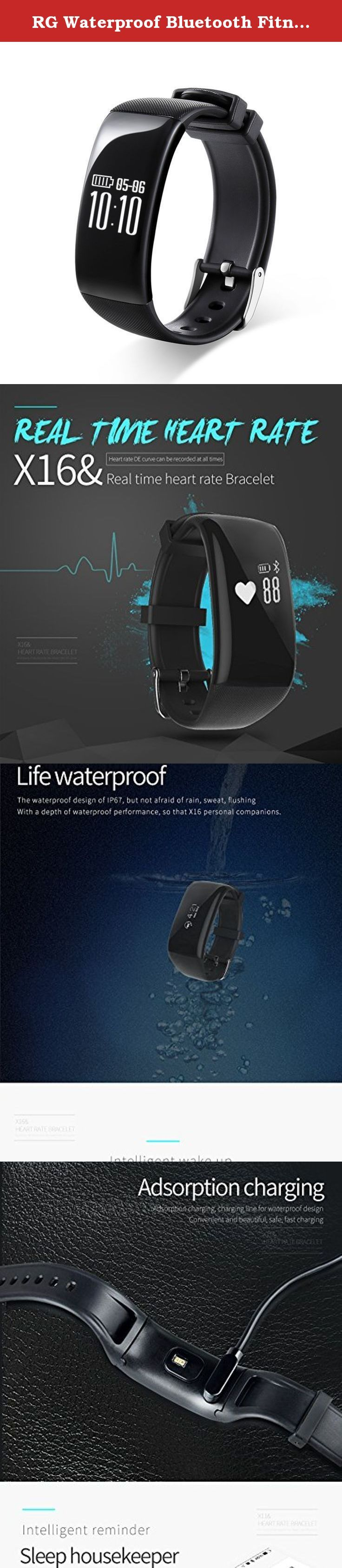 """RG Waterproof Bluetooth Fitness Tracker Smartband Bracelet Heart Rate Monitor Wristband Pedometer Step Walking Distance Calorie Counter Smart Watch for iOS Android Smartphone (BlackB). FAQ 1.HOW TO DOWNLOAD APP? Answer: Android -- Please searching """"HPLUS WATCH""""from Google play store and then download the APP IOS -- Please searching """"HPLUS WATCH"""" from APPLE store and then download the APP 2.How to synch with app? Answer: Please connnect your phone with this track X16 via Bluetooth , after…"""
