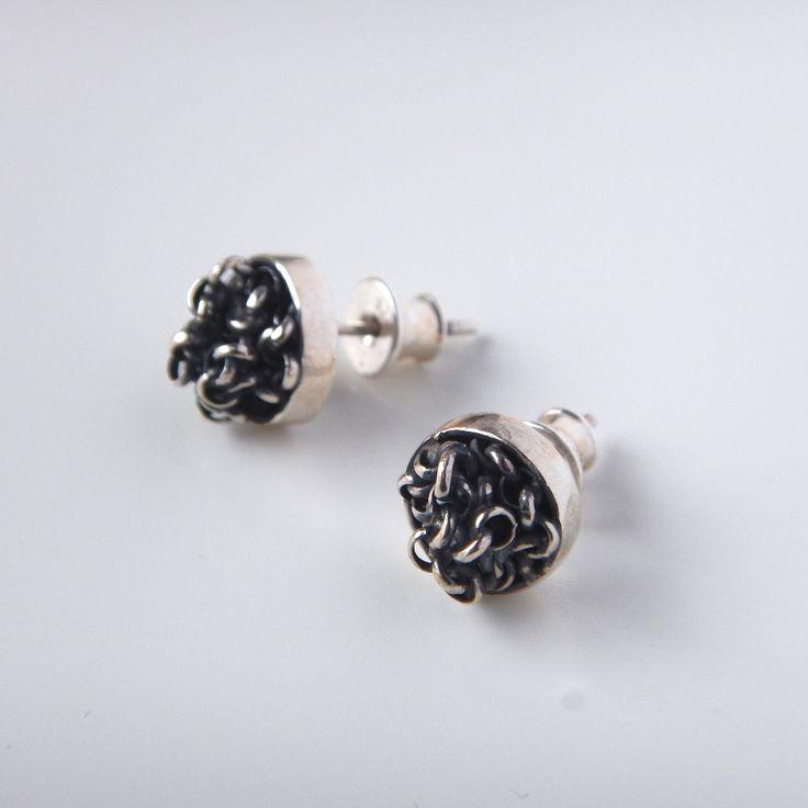 Silver stud earrings - kropinska.pl