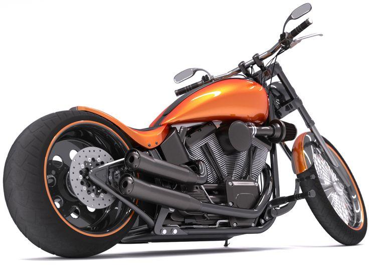 Marvelous D Model Of Harley Davidson Night Train D Model