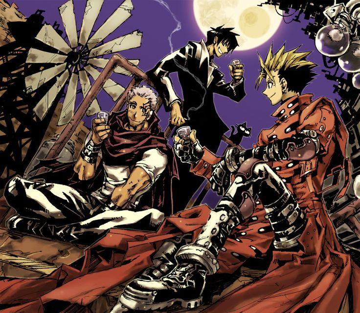Vash, Livio, and Wolfwood - Trigun