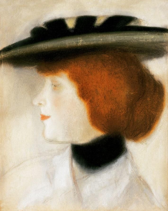 The Athenaeum - Woman with Red Hair (József Rippl-Rónai - )