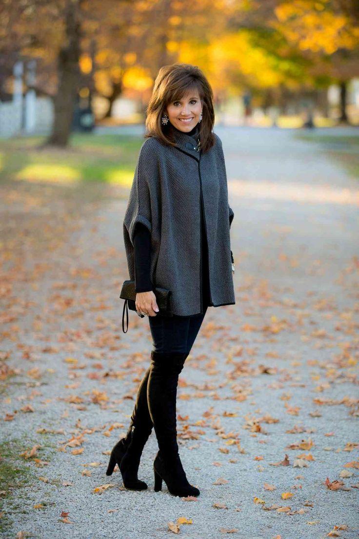Clothes Fashion Outfits Fashion: CLASSIC PONCHO-WINTER FASHION
