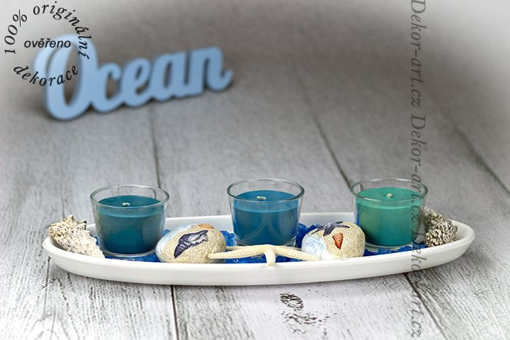 Moderní svícen s mořskou tématikou do restaurace, hotelu, nebo jen tak pod pergolu, či sezení.