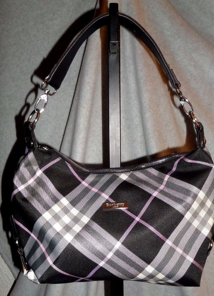 RARE Burberry Beat Check Shoulder handbag Nova Check Gently Used  #Burberry #ShoulderBag