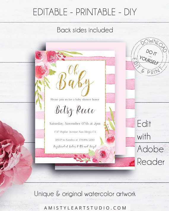 217 best baby shower images on pinterest baby shower nio fiesta oh baby printable invitation template girl baby shower invitations gold glitter stripes invitation solutioingenieria Choice Image