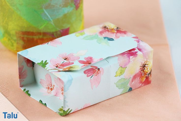 Origami-Schachtel basteln