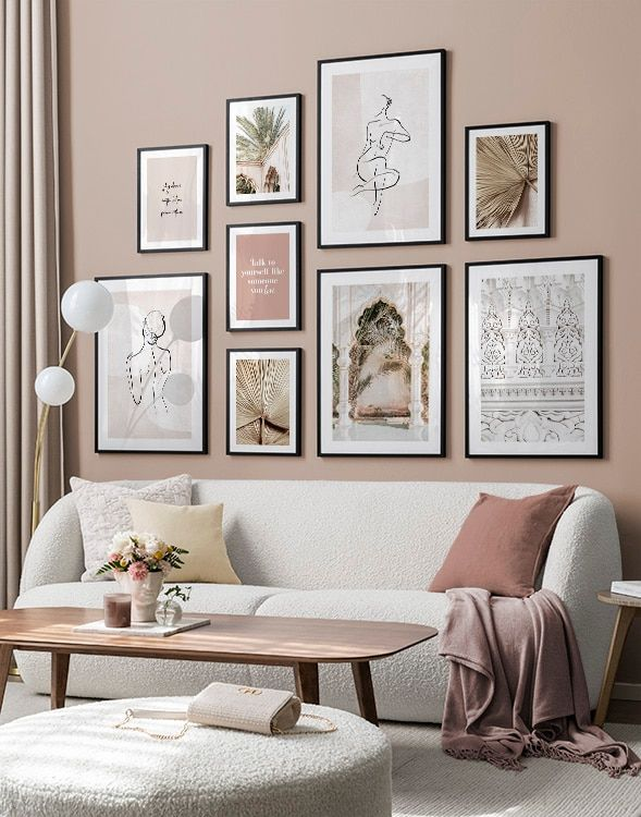 Gallery Wall And Picture Wall Inspiration Desenio Com Gallery Wall Living Room Gallery Wall Decor
