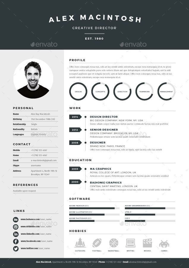 71 best ✏ Professional Resume Templates images on Pinterest - outline resume template
