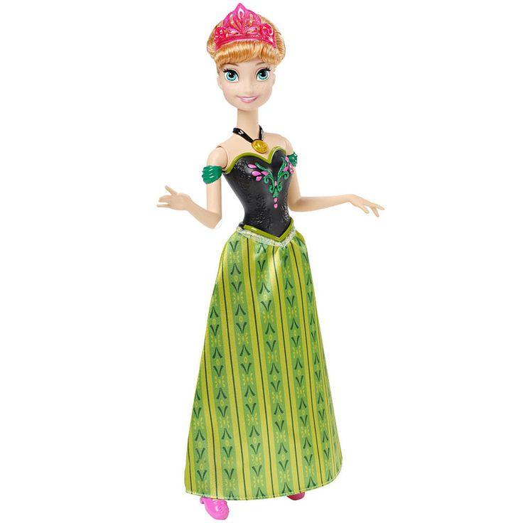 Leve todo o encanto e magia do universo Frozen para casa com  a espetacular Boneca Disney Frozen Anna Musical da Mattel.     Uma linda boneca da princesa Anna que músicas do filme em inglês, francês, espanhol e português.     Além disso, a boneca tem um visual muito bonito, com belo vestido e cabelo impecável.     Uma boneca incrível que vai proporcionar muitos momentos de alegria e diversão.