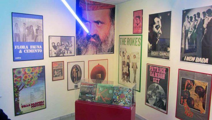 La sala del rock italiano del Museo della Musica di Catanzaro