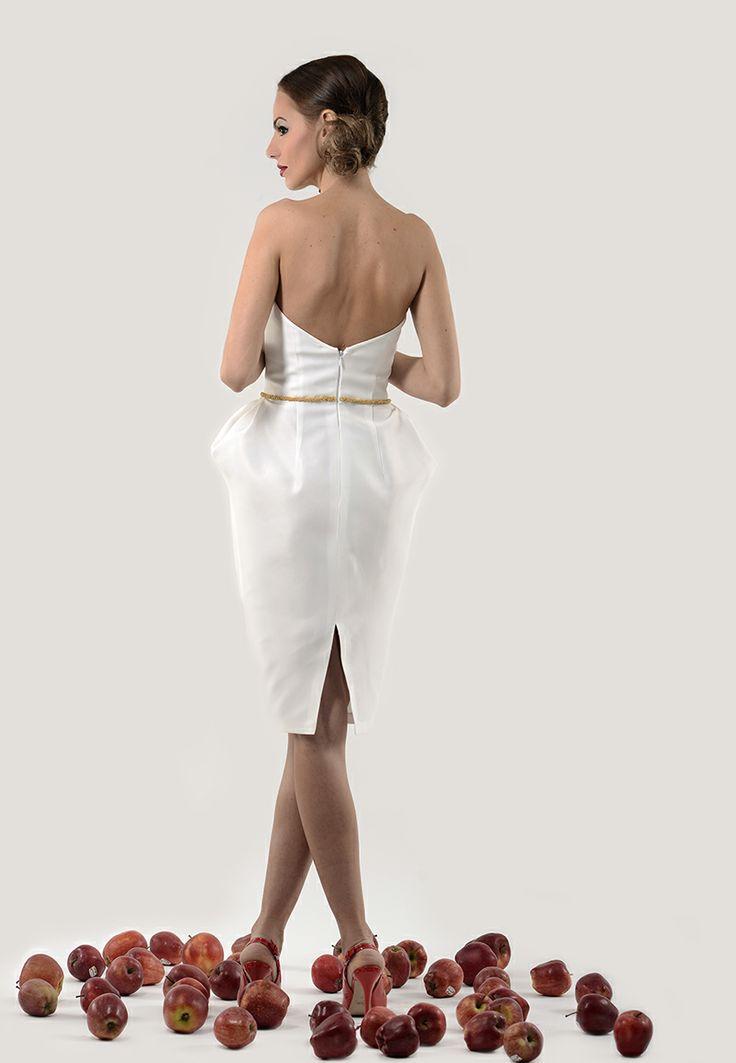 white taffeta dress by KIKILOU