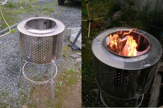 Tambor de lavadora reciclado: Fire Drums, Machine Drums, Patio Heater, Drums Fire, Diy Patio, Drums Outdoor, Outdoor Fireplaces, Diy Projects, Fire Pit