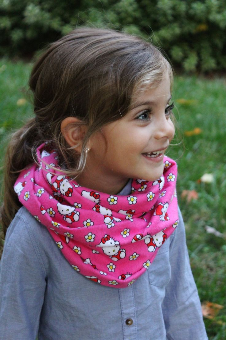 Infinity Scarf Tutorial (Kids and Adults) Hello Kitty