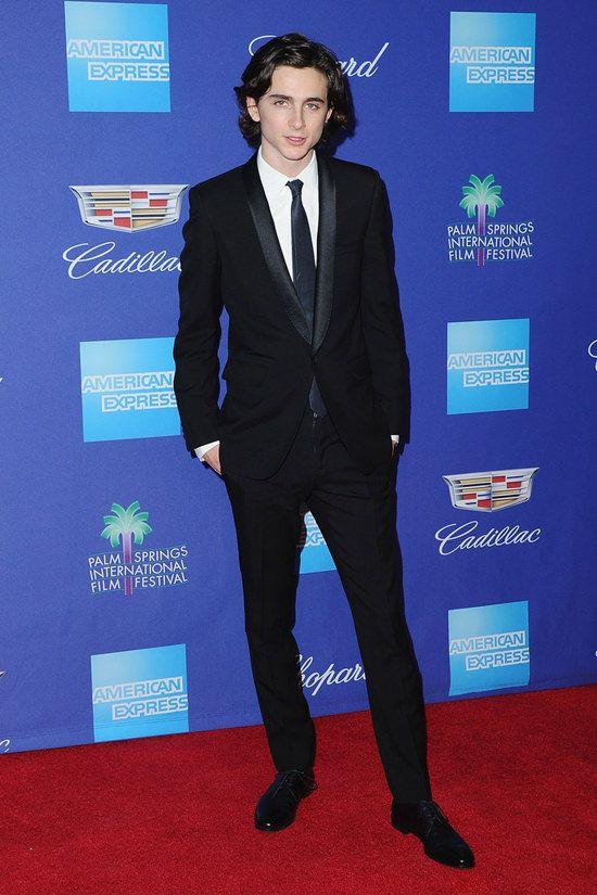 Timothée Chalamet wore head-to-toe Saint Laurent to the 2018 Palm Springs International Film Festival Awards Gala