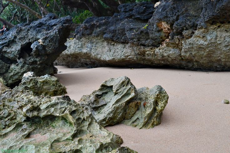 The cliff in Ujung Kulon National Park