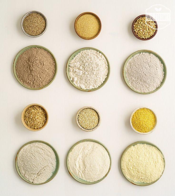ALE ZDROWE - STYL ŻYCIA - 4 rodzaje mąk bezglutenowych i przewodnik po tym, jak z nich piec.