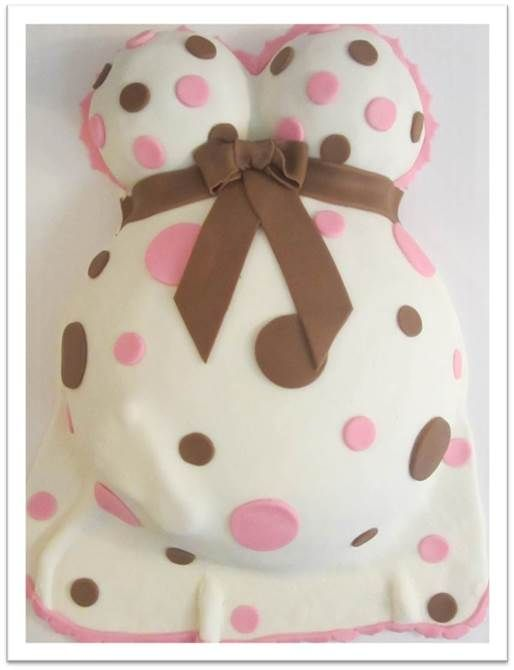baby bump cake in polka dots Pink Apron Confections Cakes Melbourne FL