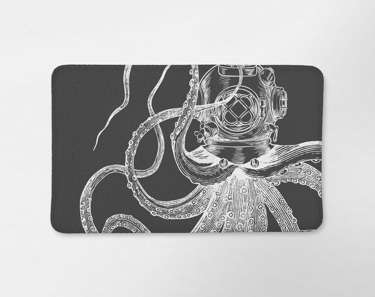 Scuba Octopus Tentacles Bath Mat