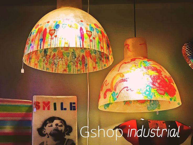 Hanging lighting fixture, made out of fiberglass. Fiberglass is a robust and almost unbreakable, as well as very lightweight, material. The background color of this lamp is Natural White.  Dimensions: 39 x 45 cm  They are perfect for the kitchen area, dining room, or the bar area!