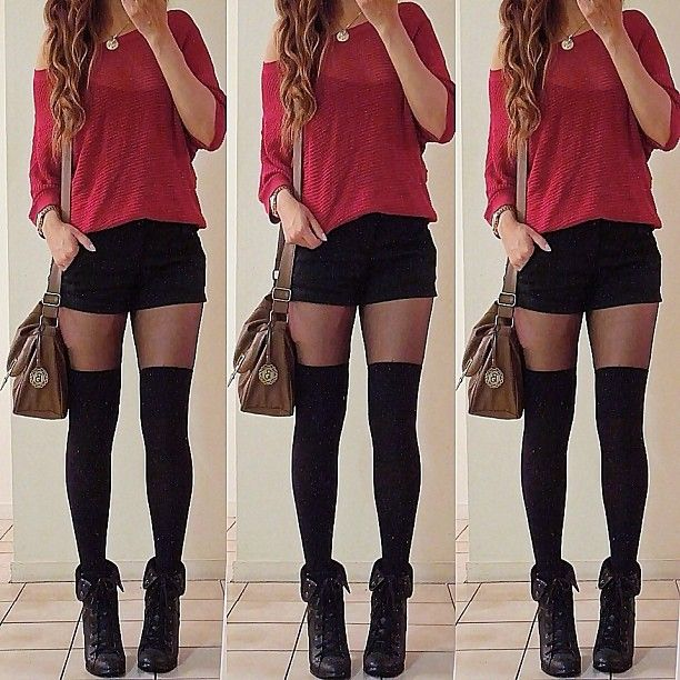 shorts and knee highs <3