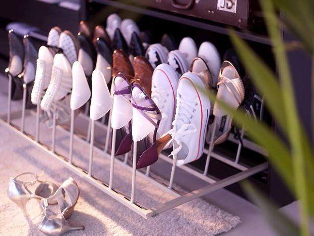 Przechowywanie butów - stojak od Ikei