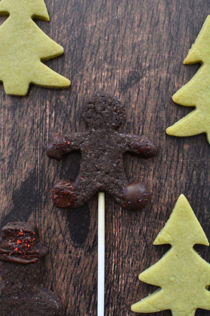 chocolate cookie pop & matcha tea shortbread