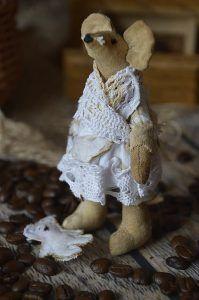 myszka tilda, handmade, rękodzieło, zabawki szmaciane, tilda anioł