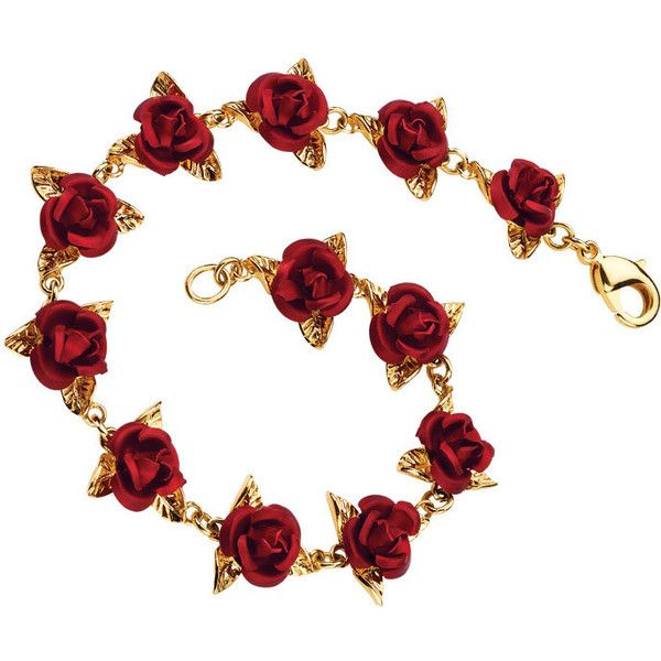 Gold Jewelry | A Dozen Roses 24kt Gold Plated Bracelet - The Danbury... ($69) ❤ liked on Polyvore featuring jewelry, bracelets, accessories, necklaces, belle, anniversary jewelry, rose jewelry, gold bangles, gold plated jewelry and gold bracelet bangle