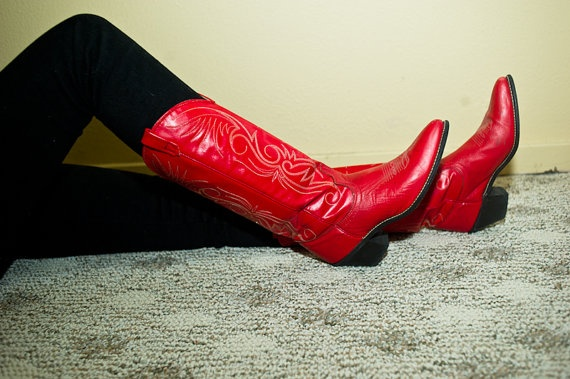 I've wanted red cowboy boots for years .... blame it on Footloose!