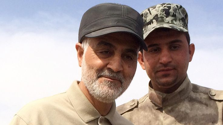 Seeing images of Qasem Soleimani, commander of Iran's Revolutionary Guards Quds Force, touring