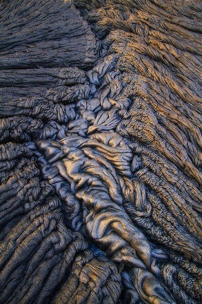 pahoehoe - A type of lava having a smooth, swirled surface.