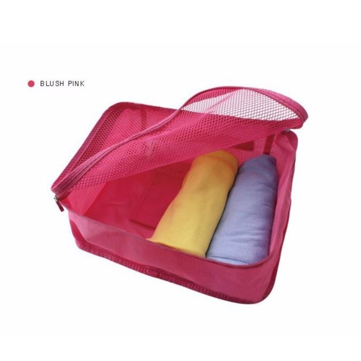 Foldable Portable Nylon Mesh Underwear Cosmetics Storage Bags For Clothes