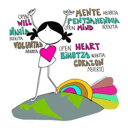 """Lámina """"Open mind"""""""