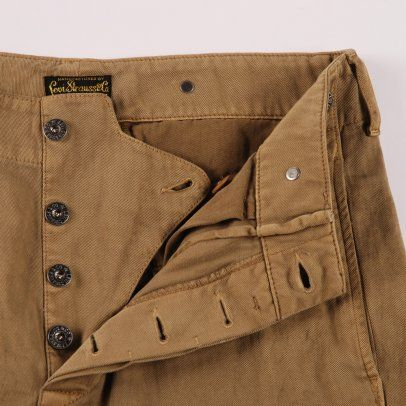LEVIS VINTAGE CLOTHING  LEVIS VINTAGE 1920'S CHINO - BROWN OTTER