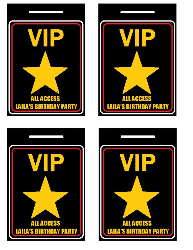 Resource image with free printable vip pass template