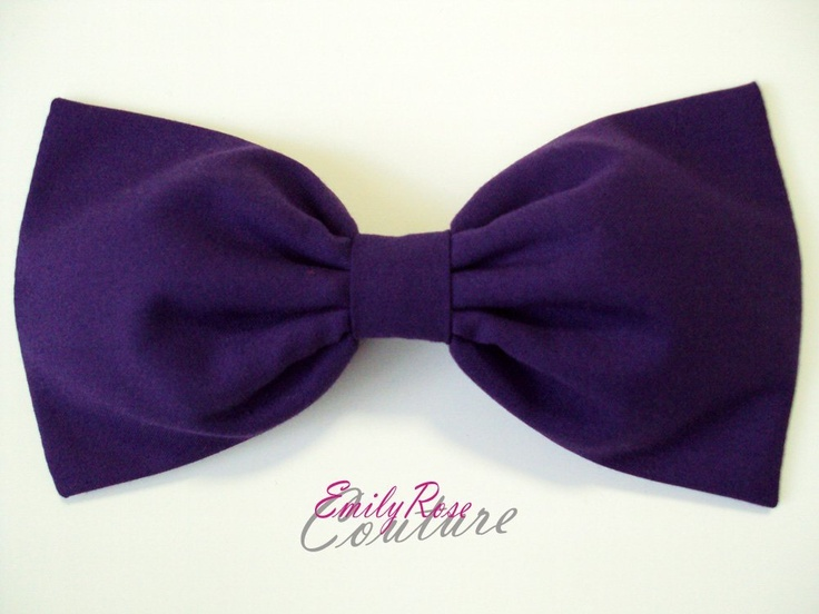 Amazon.com: Solid Purple Jewel Tone Essentials Hair Bow Barrette: Beauty