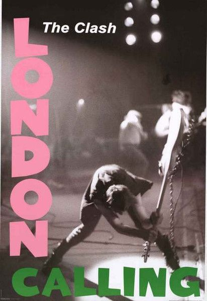 The Clash London Calling Poster 24x36 – BananaRoad                                                                                                                                                     Plus