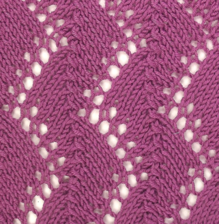 Feather Lace II is a slight varation on the Feather Lace pattern.  It is also found in the Lacy Stitches category.