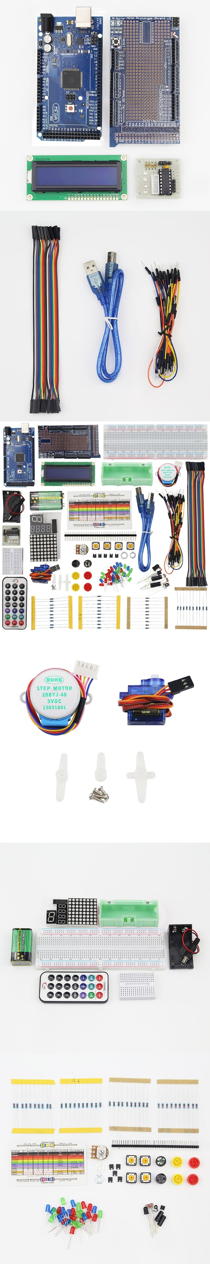 Raspberry Pi 3 for MEGA 2560 Starter Kit for ARDUINO LCD Servo Motor Sensor Module Jumper Wire Project Learning AVR MCU Learner