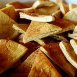 Pioneer Woman Salted Pita Wedges - great idea to make them yourself.  Those pita chips are expensive!
