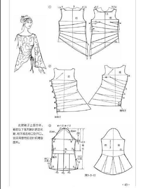 Kebaya [转载]【布期而遇】几十款袖型做法