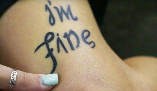 I'm fine..save me (upside down)