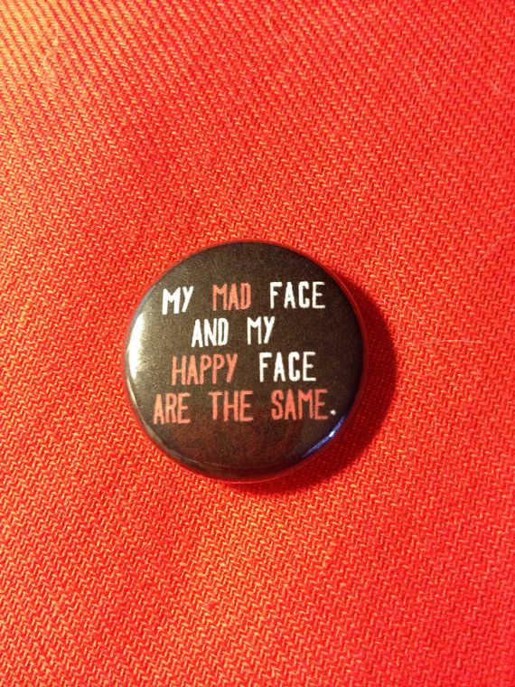 "0,94€ My mad face and my happy face are the same 1"" pinback button"