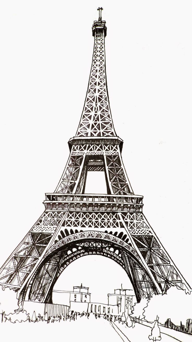 эйфелева башня картинки нарисованы карандашом будут ответы некоторые