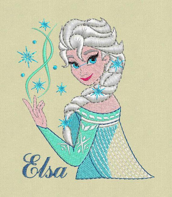 Stickerei-Entwurf Elsa Frozen SPE Hus Jef exp vp3 von ViolaFashion